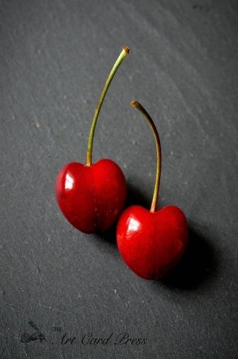 Cherries on slate 1