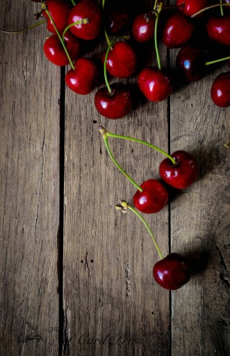 Cherries on wood 1