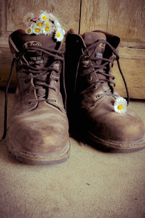 George's boots and daisies