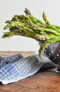 Asparagus washed