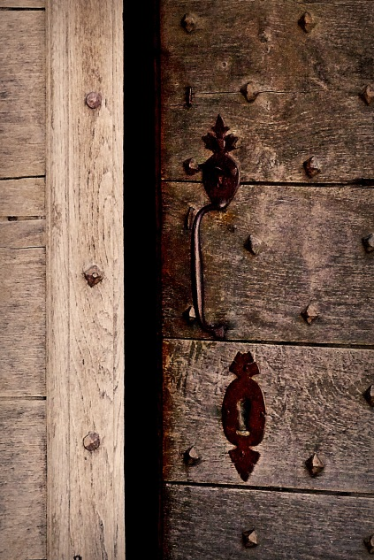 Medieval church door