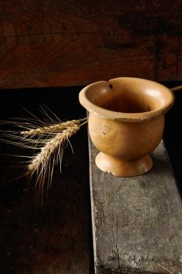 Wabi Sabi bowl and winter barley 1