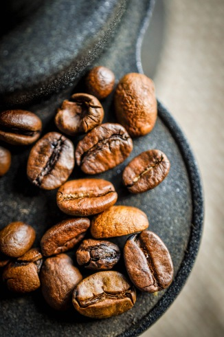 Coffee beans and cafetiere