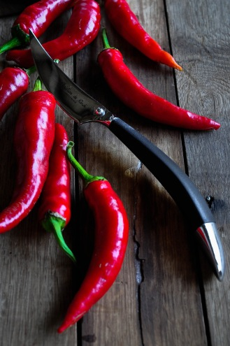 Chillies and knife 3