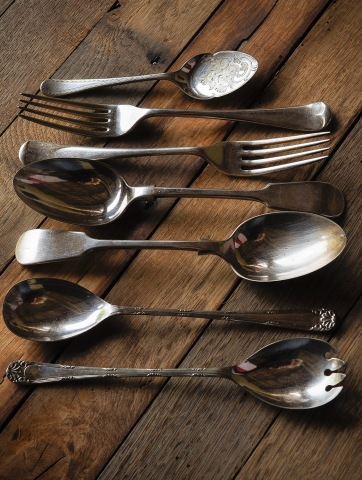 Silver spoons 6