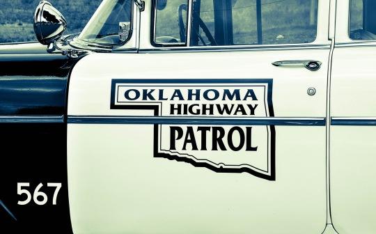 Vintage car Oklahoma Patrol