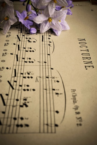 Chopin Nocturne Op9 and flowers 2