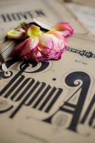 Vintage Music Chopin Rose1
