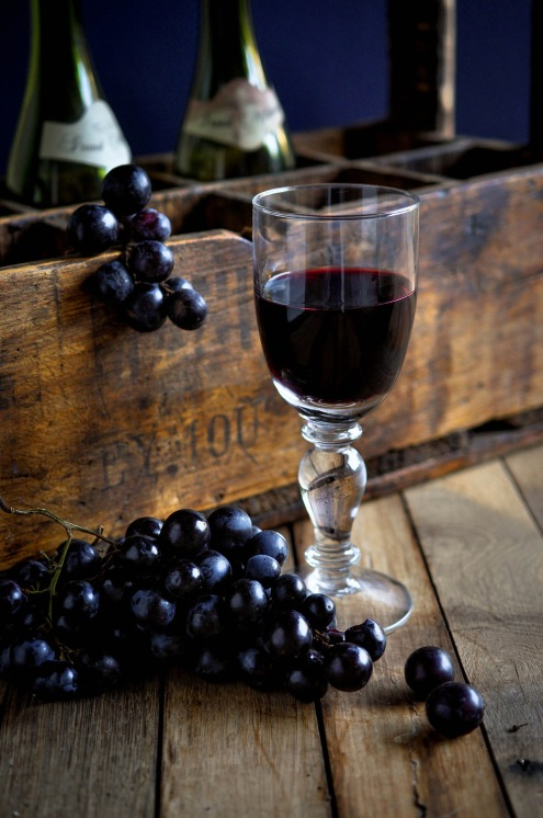 Wineglass Bottles Crate Grapes 2