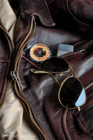 Leather jacket and compass 3