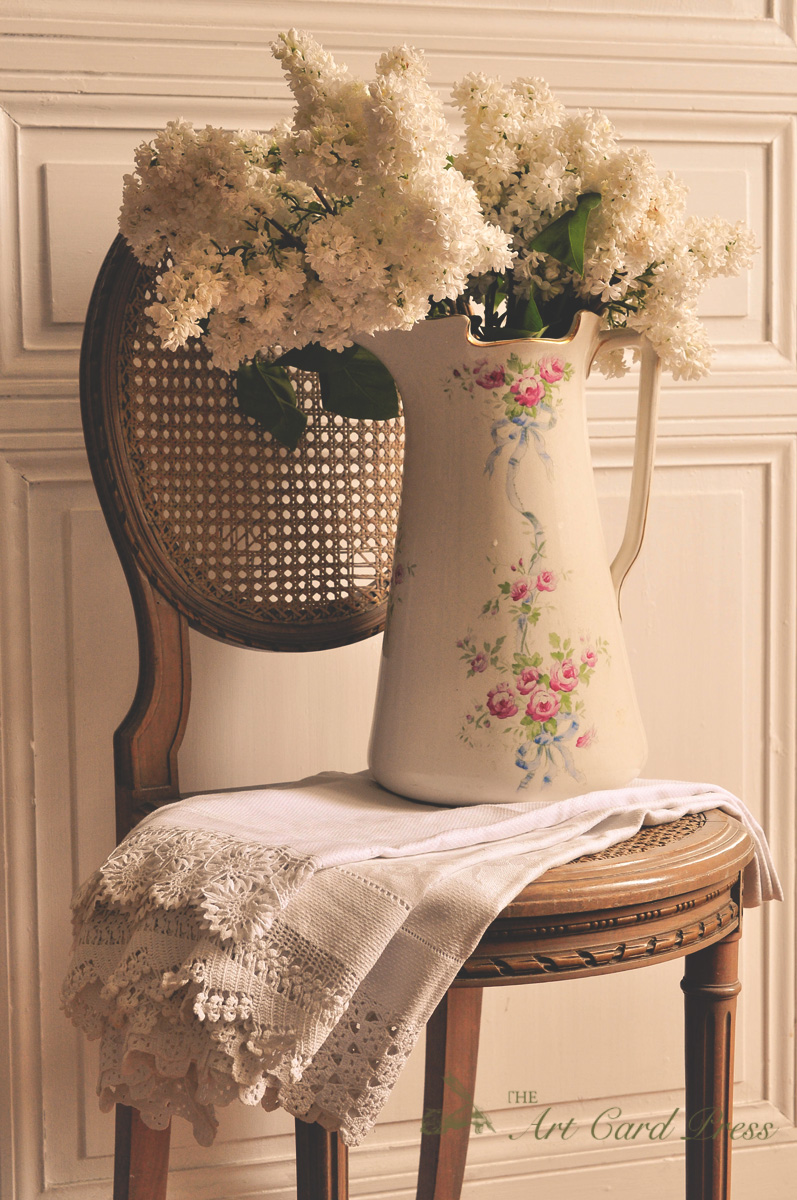 White Lilac and Flowered Jug 3