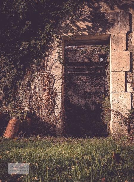 Ruined cottage doorway