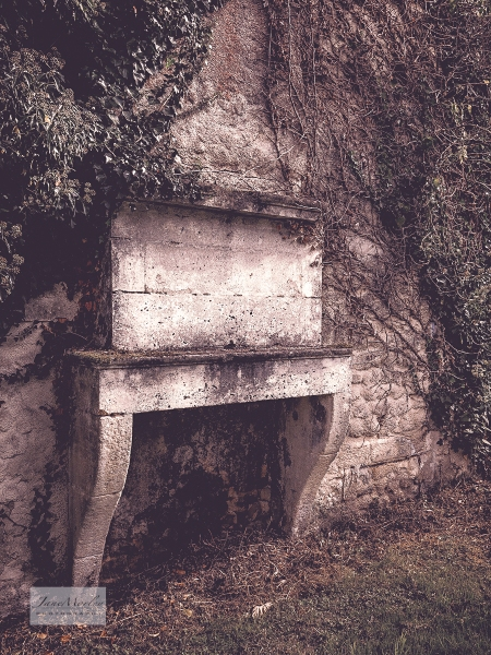 Ruined house fireplace 2