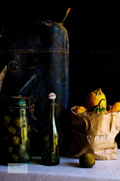 Bottle gourds and petrol can 2
