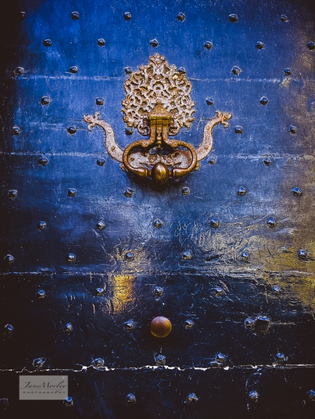 Angouleme door and gothic knocker details-2