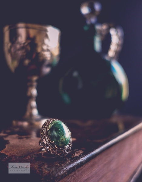 Still Life Book green ring-2