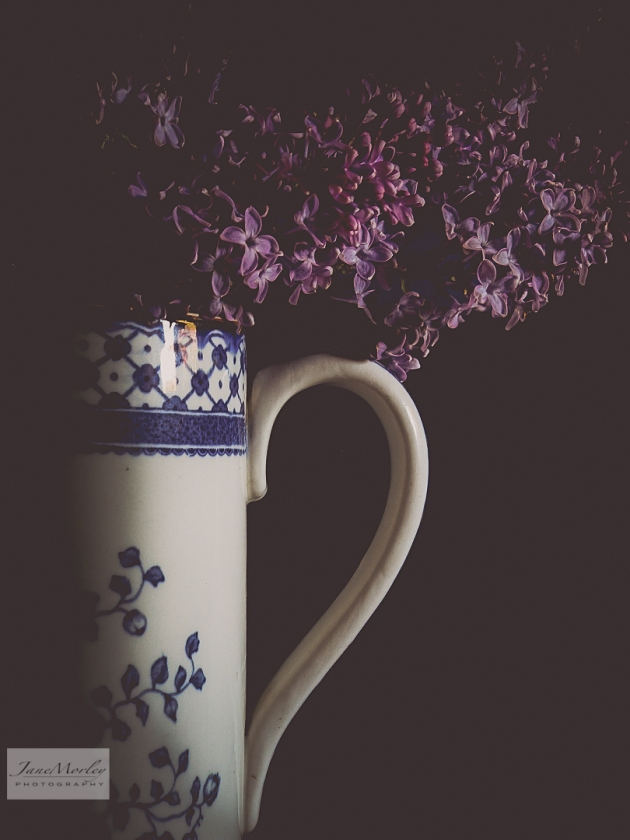 Lilac and Blue & White Jug 3