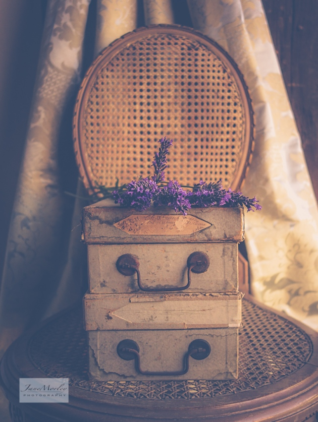 Still Life - Lavenbder and Shoe Boxes
